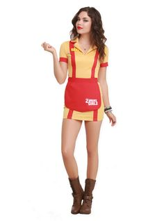 Waitress Halloween Costume womens cocktail waitress halloween costume 2 Broke Girls Waitress Costume Hot Topic