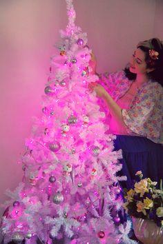 x mas tree pink - Mini Pink Christmas Tree