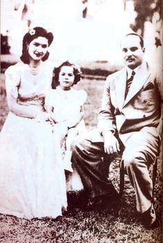 King Farouk,Queen Farida and Princess Farial