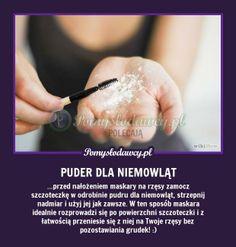 Pomysłodawcy.pl - serwis bardziej kreatywny - PROSTY TRIK NA PERFEKCYJNE NAŁOŻENIE MASKARY :D Beauty Hacks, Hair Makeup, Projects To Try, Make Up, Good Things, Face, Tips, Inspiration, Ideas