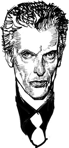 Peter Capaldi as the 12th Doctor by Bill Sienkiewicz