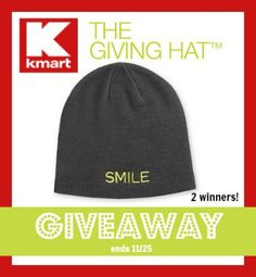 #Kmart The Giving Hat – donates $1 to St. Jude with every purchase. 2 winners will win #TheGivingHat #Giveaway