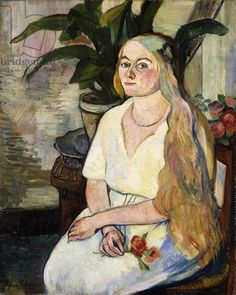 Portrait of Germaine Utter  -  Suzanne Valadon 1922French   1865-1938