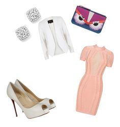 """Untitled #177"" by kristinakotenko on Polyvore featuring River Island, Posh Girl, Christian Louboutin, Bloomingdale's and Fendi"