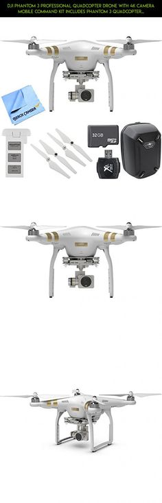 DJI Phantom 3 Professional Quadcopter Drone with 4K Camera Mobile Command Kit includes Phantom 3 Quadcopter, Battery, Backpack, Propeller Set, 32GB Memory Card, Card Reader and Beach Camera Cloth #quadcopter #pro #dji #kit #drone #4 #with #fpv #kit #phantom #racing #3 #tech #gadgets #technology #bundle #drone #parts #shopping #batteries #camera #plans #products