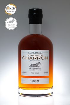 Millésime 1986 Brut de Fût - Bas Armagnac Domaine de Charron. Un beau doublé cette année avec de l'Or aux Talents de l'Armagnac et de l'Argent au Concours Général Agricole de Paris