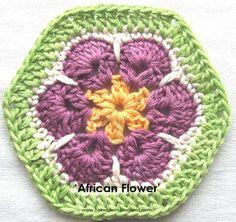 Hekel Idees: Tutoriaal: Leer hoe om die 'African Flower' te hekel.