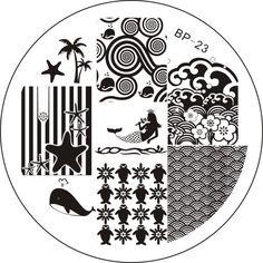 $1.94 # 17204 Ocean Theme Nail Art Stamp Template Image Plate BORN PRETTY BP23 -  ***10% Off code = GAWH10 #BornPrettyStore***  BornPrettyStore.com