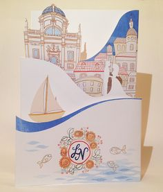 handmade websites and more for all of your events Map Wedding Invitation, Laser Cut Invitation, Invites, Envelope Liners, Artisan, Dubrovnik Croatia, Create, Paper, Artwork