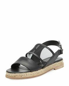 Balenciaga Double Band Flat Espadrille Sandal