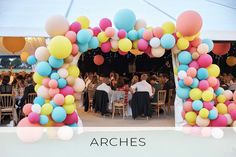 Balloon arches & asymmetric arches created by Bubblegum Balloons for some of the most phenomenal party themes! Wonka Chocolate Factory, Bubblegum Balloons, Balloon Arch, Pretty Pastel, Bubble Gum, Arches, Orange Color, Backdrops, Colours