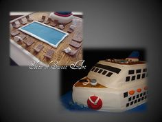Retirement Cruise Ship Cake by Slice of Sweet Art