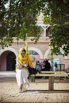 sudanese girl preparing for her exams