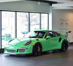 Porsche 991 GT3 RS painted in paint to sample Signal Green  Photo taken by: @ztk_photo on Instagram
