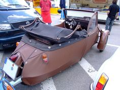 Velorex Car - made out of leather