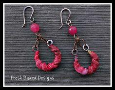 Sari Silk Earrings (Lima Beads Design Gallery)