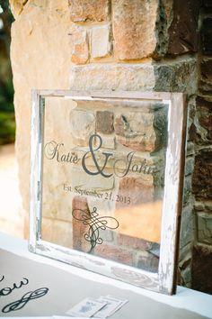 ウェルカムボードはガラスorウッディにする✳︎wedding decal on glass sign http://www.weddingchicks.com/2014/01/24/teen-spirit-wedding/