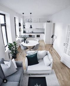 Outstanding Small Apartment Interior Design Ideas is part of Living Room Designs Interior - While interior decorating may work easily for spacious houses, it may not for apartments The reason is that most apartments […] Interior Design Kitchen, Interior Design Living Room, Bathroom Interior, Interior Decorating, Decorating Ideas, Decor Ideas, Small Room Interior, Small Apartment Interior Design, Minimal Apartment Decor