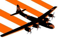 plane bomber a vector art Canvas Wall Poster