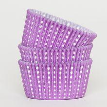 Light purple poka dot cupcake liners