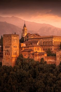 The Alhambra is a palace and fortress complex located in Granada, Andalusia, Spain. Alhambra Spain, Granada Spain, Andalusia Spain, Monuments, Traveller's Tales, Spain And Portugal, Chill, Beautiful Places To Visit, Barcelona Spain