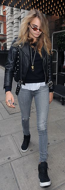 Cara Delevingne Style #streetstyle