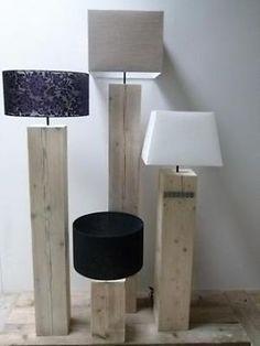 staande vloer lamp massief hout 140 cm hoog | for the home, Deco ideeën