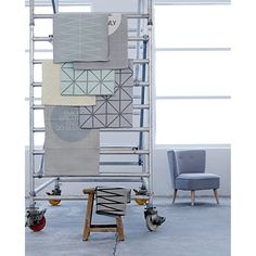 Big Squares tæppe, grå – Bloomingville – Køb møbler online på ROOM21.dk