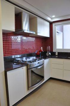 coifa pastilha de vidro cozinha colorida