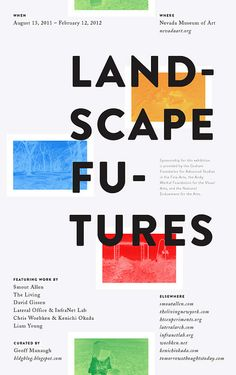 """""""Landscape Futures: Instruments, Devices and Architectural Inventions"""" lecture series poster"""