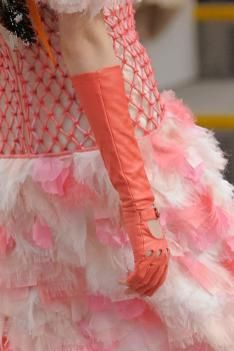 Chanel autumn/winter 2014/15 colorful gloves