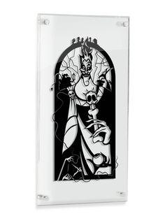 Hades Hercules silhouette hand cut paper craft handmade framed