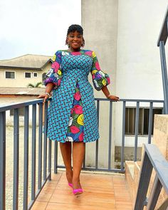 african fashion ankara Beautifully made Short Ankara Gown Styles African Dresses For Kids, Latest African Fashion Dresses, African Dresses For Women, African Print Fashion, African Attire, Ankara Fashion, Africa Fashion, African Prints, African Fabric