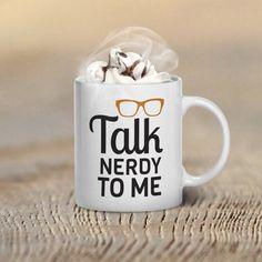 Talk Nerdy to Me Glasses Valentine's Day Coffee Mug by GulfRoad