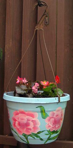 DIY: Rosy Flower Pots via Cassie Stephens