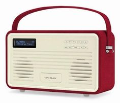 Retro Radio Wekker View Quest DAB+ Red iPhone 5
