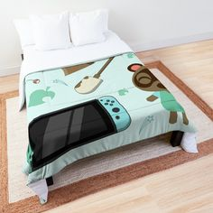 College Dorm Rooms, Square Quilt, Twin Xl, Animal Crossing, Nintendo Switch, Quilt Patterns, Comforters, Toddler Bed, Pillows