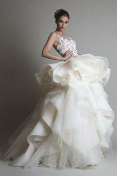 Bộ sưu tập váy cưới của Krikor Jabotian năm 2014