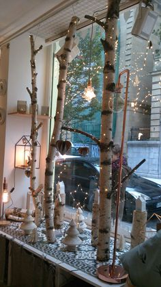 Magical Christmas, Beautiful Christmas, Christmas Crafts, Xmas, Winter Window Display, Shop Window Displays, Christmas Shopping, Go Shopping, Ladder Decor