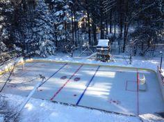 Incredible backyard rink has ice-level bar, golf cart Zamboni (Photos)
