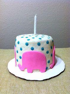 Vegan cake topper animal decoration Pink fondant elephant My