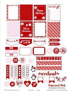 Peppermint Stick Planner Stickers – Free Printable | Vintage Glam Studio | Bloglovin'