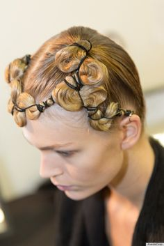 | New York Fashion Week Backstage Beauty: Corseted Ponytails At Kimberly ...
