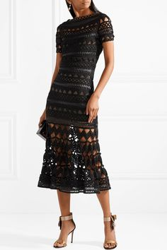 Oscar de la Renta | Guipure lace midi dress | NET-A-PORTER.COM