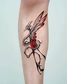 Red Ink Tattoos, Dope Tattoos, Pretty Tattoos, Mini Tattoos, Beautiful Tattoos, Body Art Tattoos, Small Tattoos, Sleeve Tattoos, Dragon Tattoo For Women