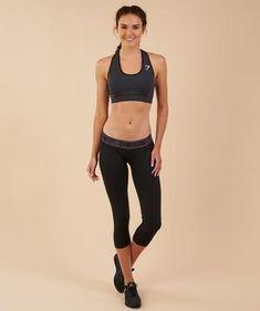 6fe7a3cfc5a0a Gymshark Vital Seamless Sports Bra - Black Marl
