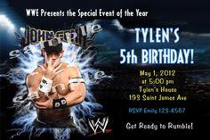 WWE Wrestling   Fancy Invites