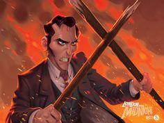 London After Midnight - Van Helsing, James Castillo on ArtStation at https://www.artstation.com/artwork/london-after-midnight-van-helsing