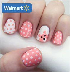 Diseño de uñas con puntos | Diseños de uñas para el colegio