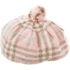 Pre-owned Burberry Marino Wool Hat ($125) ❤ liked on Polyvore featuring accessories, hats, pink, pompom hat, burberry, pom pom hat, woolen hat and wool hat